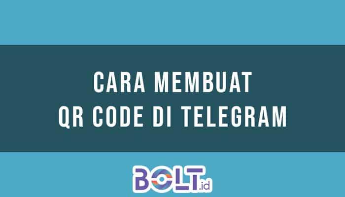 Membuat QR Code di Telegram
