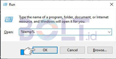 hapus cache laptop dan browser