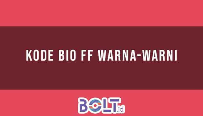 Kode Bio FF Warna-Warni