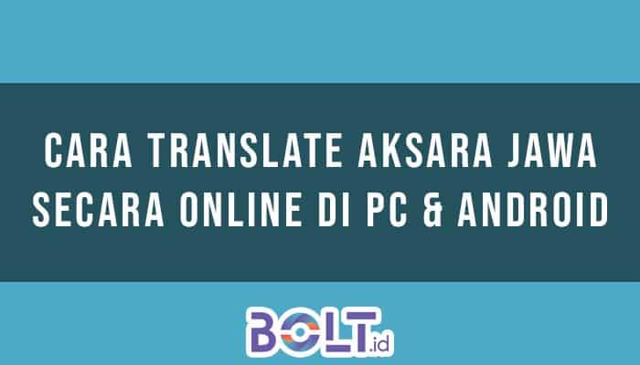 cara translate aksara jawa